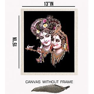 Decor Savvy Devotional Canvas painting without frame + Agarbatti Stand (15x13)