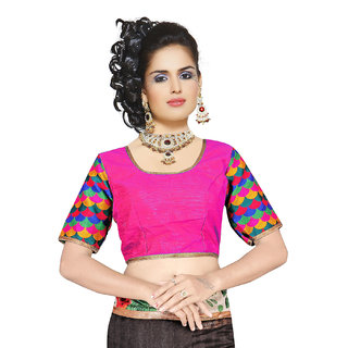 Melluha Party/Wedding Short Sleeves Square Neck Blouse