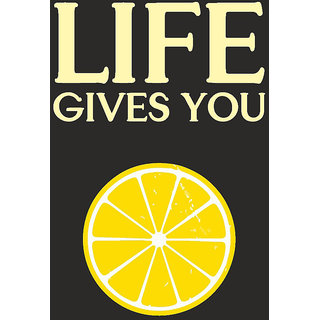 Lemons Quote Typographic Poster