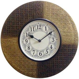 Prateek Exports Wooden Base Round Wall Clock