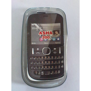 Nokia Asha 200 Qwerty Keypad Mobile Soft Jelly Silicone Back Cover Case Pouch