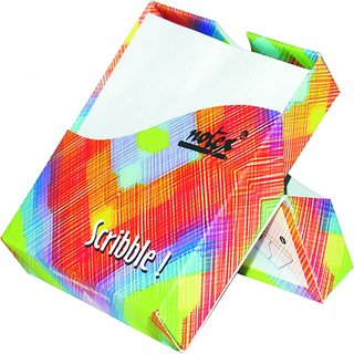 Notex Scribble PaperCube Pack of 2-Multicolor