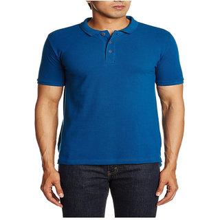 D.K. Fashion Men's Polo T-shirt Royal Blue XX-Large