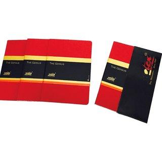Notex The Genius Journal Pack of 3-Scarlet Red