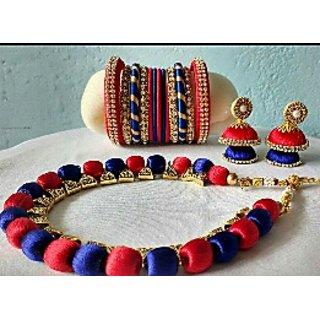 Sulk thread jewellery set