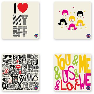 BFF COASTER SET OF 4