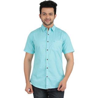 anytime mens light sky blue color half sleeve casual shirt - Light Sky Blue Color