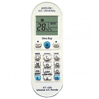 Air Conditioner AC Universal Remote. Works with multiple Indian Brands.