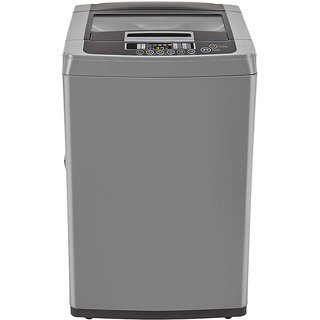 Lg 7.0 Kg T8067Teelh Top Load Fully Automatic Washing Machine - Middle Free Silver/Deep Brown