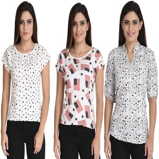 Fashion Shoppe Multicolor Printed  Top