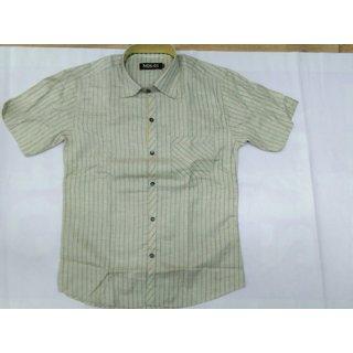Sai Enterprises Crimson Button Down Half Sleeve Shirt For Men