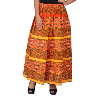 Stylish and comfortable printed designer Soft cotton skirt in vibrant and fast color, for wearing in evening n parties