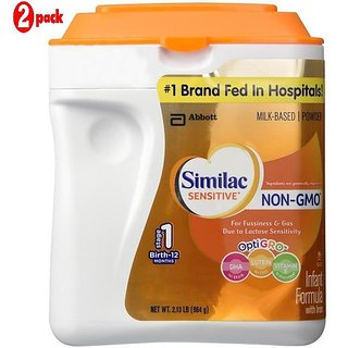 Similac Sensitive Non-Gmo Infant Formula With Iron Stage 1 (0-12m) - 964G (US) (Pack of 2)