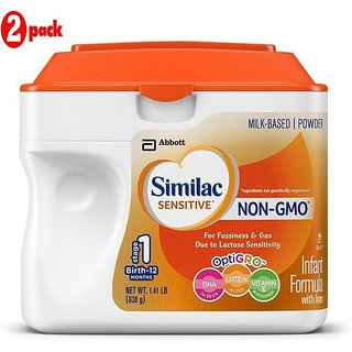 Similac Sensitive Non-Gmo Infant Formula With Iron Stage 1 (0-12m) - 638G (US) (Pack of 2)