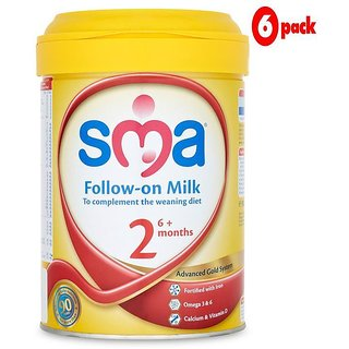 SMA 2 Follow On Milk (6m+) - 900G (Pack of 6)