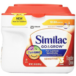 Similac Go & Grow Sensitive Toddler Drink Stage 3 (12-24m) - 624G (US)