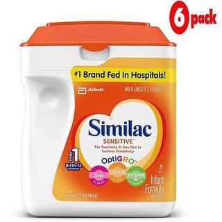 Similac Sensitive Infant Formula (0-12m) - 964G (US) (Pack of 6)