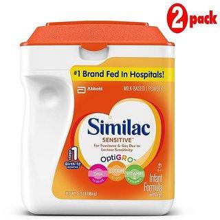 Similac Sensitive Infant Formula (0-12m) - 964G (US) (Pack of 2)