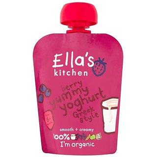 Ella's Kitchen Berry Yummy Yoghurt Greek Style (6m+) - 90G