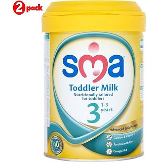 SMA 3 Toddler Milk (1-3Y) - 900G (Pack of 2)