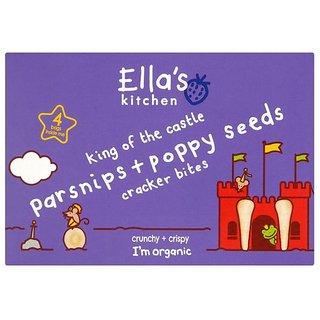 Ella's Kitchen Parsnips + Poppy Seeds Cracker Bites (1Y+) - 80G