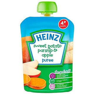 Heinz Sweet Potato, Parsnip & Apple Puree (4-36m) - 100G (Pack of 3)