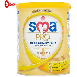 SMA Pro 1 First Infant Milk (0m+) - 800G (Pack of 6)
