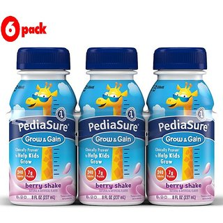 Pediasure Grow & Gain 237ml (8oz) - Berry Shake (Pack of 6)