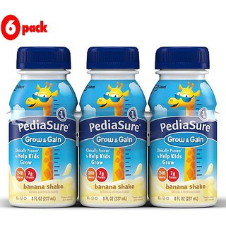 Pediasure Grow & Gain 237ml (8oz) - Banana Shake (Pack of 6)
