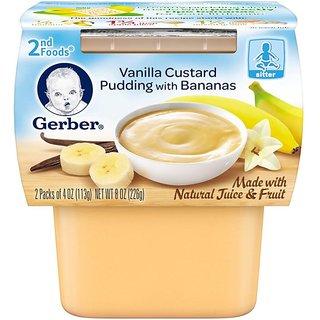 Gerber 2nd Foods 2Pk 226G (8oz) - Vanilla Custard Pudding With Bananas