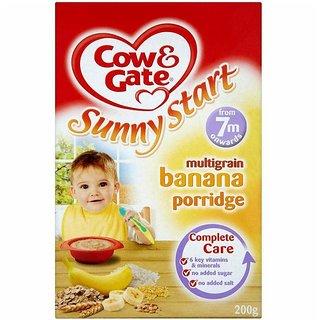 Cow & Gate Sunny Start Banana Porridge (7m+) - 200G