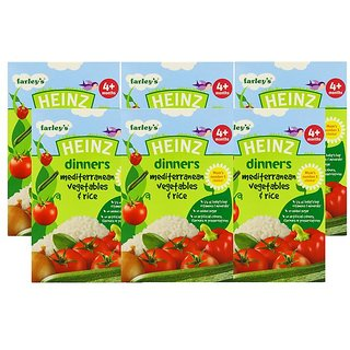 Heinz Mediterranean Vegetables & Rice (4m+) - 125G (Pack of 6)