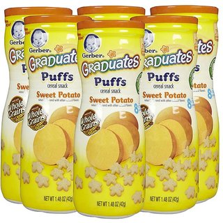 Gerber Graduates Puffs 42G (1.48oz) - Sweet Potato (Pack of 6)