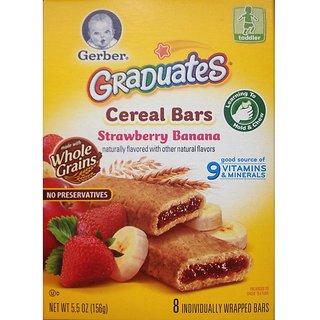 Gerber Graduates Cereal Bars 156G (5.5oz) - Strawberry Banana