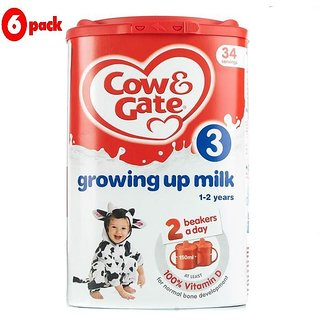 Cow & Gate 3 Growing Up Milk (1-2 Yrs) - 900G (Pack of 6)