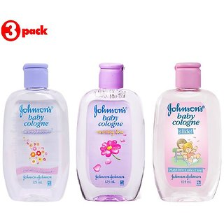 Johnsons Baby Cologne Combo (Pack of 3) - Lasting Blooms + Morning Dew + Slide