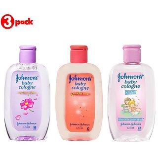 Johnsons Baby Cologne Combo (Pack of 3) - Morning Dew + Powder Mist + Slide