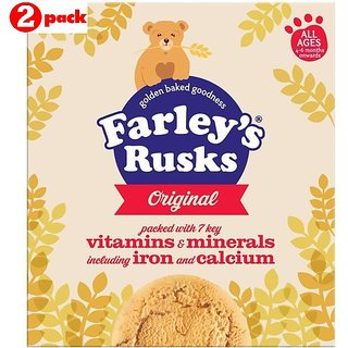 Heinz Farleys Rusks 300G (4-6m+) - Oiginal (Pack of 2)