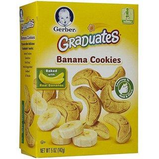 Gerber Graduates Banana Cookies - 142G (Pack of 3)