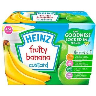 Heinz Fruity Banana Custard 4Pk (4-36m) - 400G