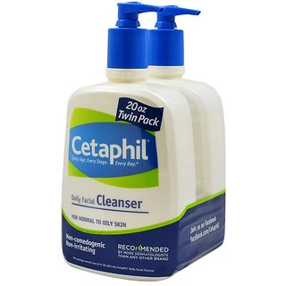 Cetaphil Daily Facial Cleanser - 591ml (20oz) (Pack of 2)