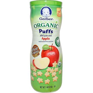 Gerber Organic Puffs 42G (1.48oz) - Apple