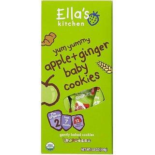 Ella's Kitchen Apple & Ginger Baby Cookies (7m+) - 108G