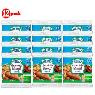 Heinz Chocolate Biscotti Snack (7m+)- 60G (Pack of 12)