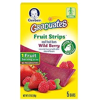 Gerber Graduates Fruit Strips - 50G (1.75oz) Wild Berry