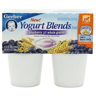 Gerber Yogurt Blends Snack 396G (14oz) - Blueberry With Whole Grains