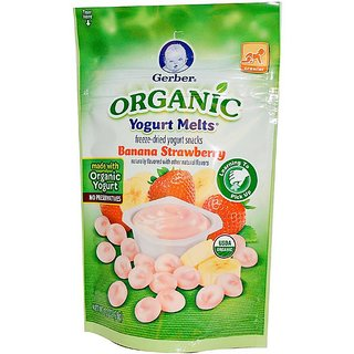 Gerber Organic Yogurt Melts 28G - Banana Strawberry