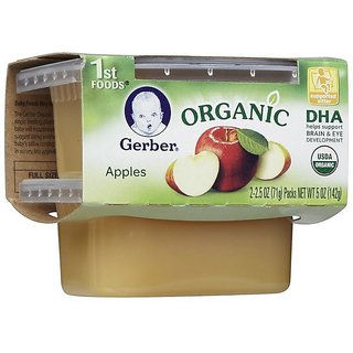 Gerber 1st Foods 2Pk 142G (5oz) - Organic Apples