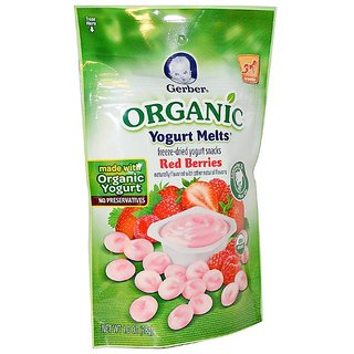 Gerber Organic Yogurt Melts 28G - Red Berries