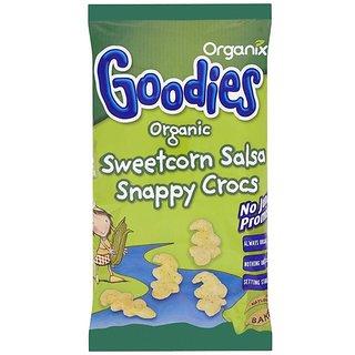 Organix Goodies Organic Sweetcorn Salsa Snappy Crocs (4Pk ) - 60G